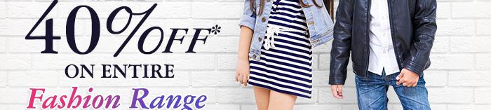 Flat 40% OFF* on Entire Fashion Range | Coupon: ANV40FSH