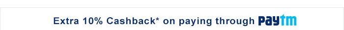 Extra 10% cashback on paying through paytm