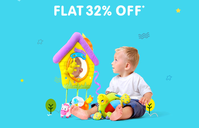 Flat 32% OFF* on Entire Toys Range | Coupon: TOYS32FEB