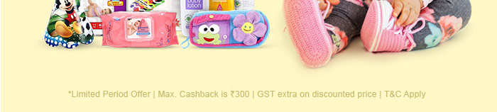 *Limited Period Offer | Max. Cashback is Rs. 300 | GST extra on discounted price | T&C Apply