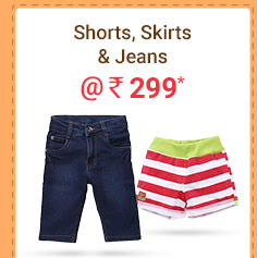 Shorts, Skirts & Jeans @ Rs. 299* | Coupon: MAR299F