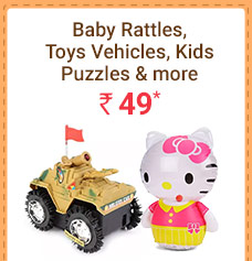 Baby Rattles, Toys Vehicles, Kids Puzzles & more @ Rs. 49* | Coupon: MAR49T