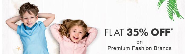 Flat 35% OFF* on Premium Fashion Brands