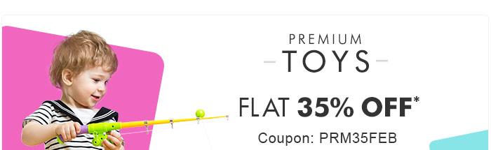 Premium Toys | Flat 35% OFF* | Coupon: PRM35FEB
