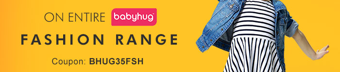 Flat 35% OFF* on Entire Babyhug Fashion Range | Coupon: BHUG35FSH