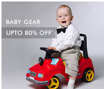 Upto 80% OFF* on Baby Gear