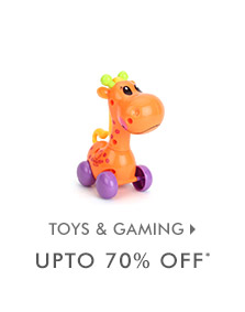 Upto 70% OFF* on Toys & Gaming