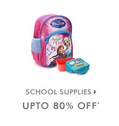 Upto 80% OFF* on School Supplies