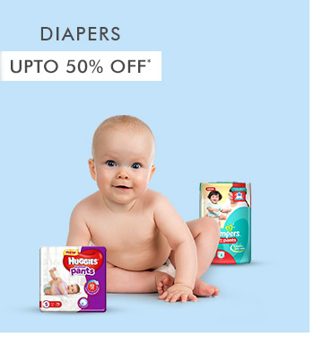 Upto 50% OFF* on Diapers