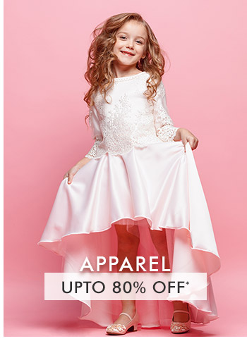 Upto 80% OFF* on Apparel