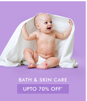 Upto 70% OFF* on Bath & Skin Care