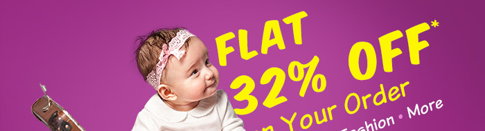 Flat 32% OFF* on Your Order | Coupon: ODR32MAR