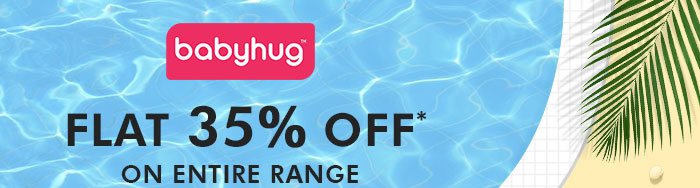 Flat 35% OFF* on Entire Babyhug Range | Coupon : BHUG35MR