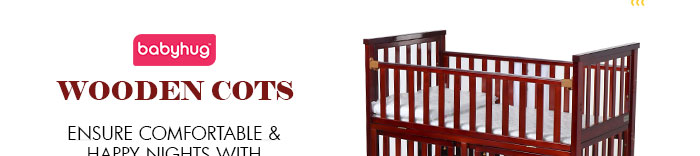 Babyhug Wooden Cots - Ensure comfortable & happy nights with Babyhug sleeping range