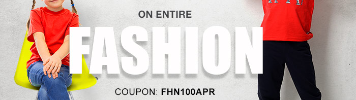 100% CASHBACK*  on Entire Fashion Range | COUPON: FHN100APR
