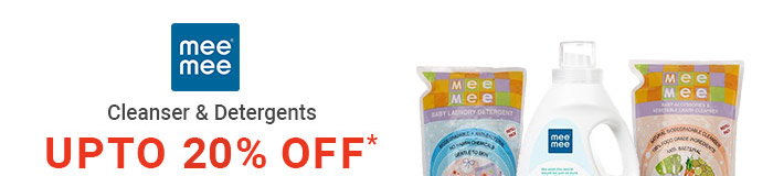 Mee Mee- Cleanser & Detergents- UPTO 20% OFF*
