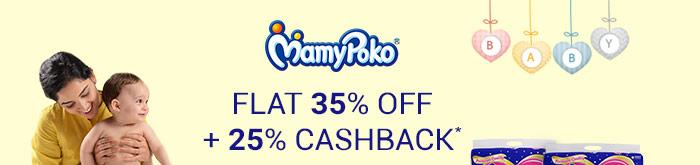MamyPoko- Flat 35% OFF & 25% Cashback*
