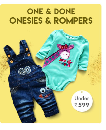 One-&-Done - Onesies & Rompers - Under Rs. 599
