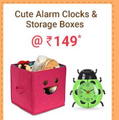 Cute Alarm Clocks & Storage Boxes @ Rs. 149* | Coupon: M149MAY