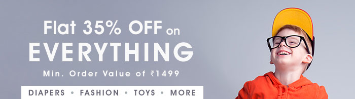 Flat 35% OFF* on Everything | COUPON: ORDER35