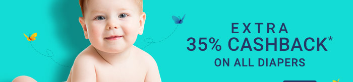 Extra 35% Cashback* on All Diapers