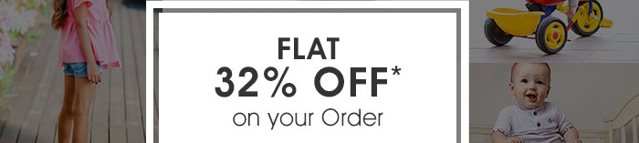 Flat 32% OFF* on your Order | Coupon: ODR32MAY
