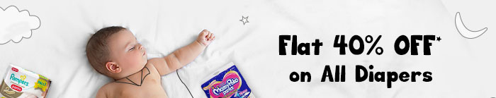 Flat 40% OFF* on All Diapers | Coupon: DIAP40MAY