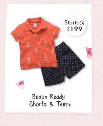 Beach Ready Shorts & Tees - Starts at Rs. 199*