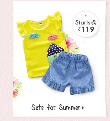 Sets for Summer - Starts at Rs. 119*