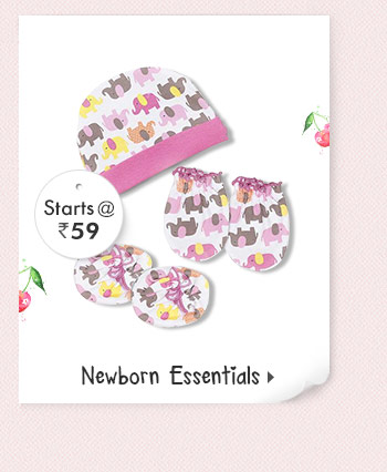 Newborn Essentials  - Starts at Rs. 59*