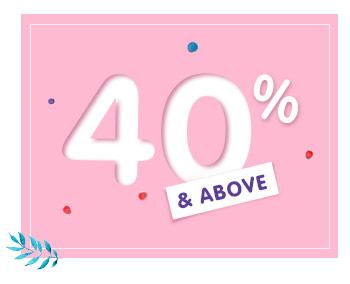 40% & Above