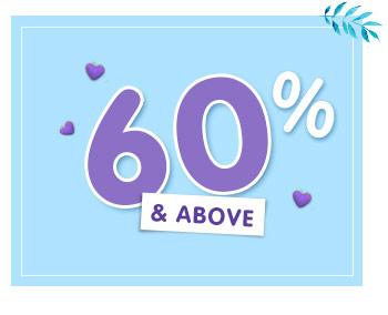 60% & Above