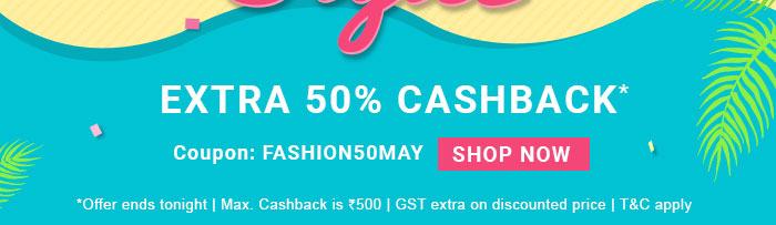 Extra 50% Cashback*