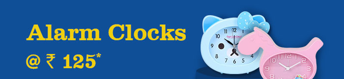 Alarm Clocks @ Rs. 125*