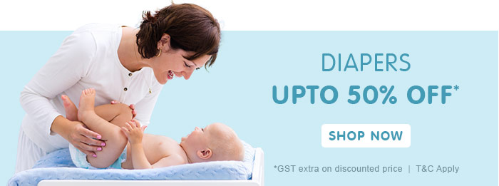 Diapers Upto 50% OFF*
