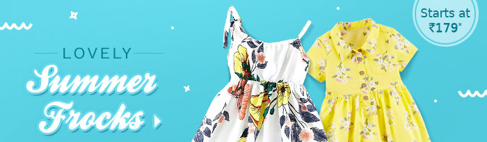 Lovely Summer Frocks Starts at Rs. 179*