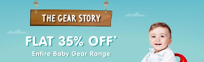 Flat 35% OFF* on Entire Baby Gear Range