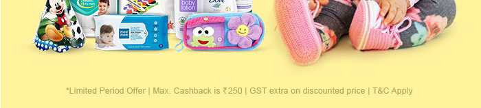 *Limited Period Offer | Max. Cashback is Rs. 250 | GST extra on discounted price | T&C Apply