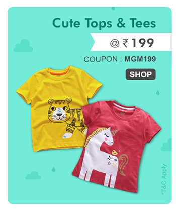 Cute Tops & Tees  @ Rs. 199*