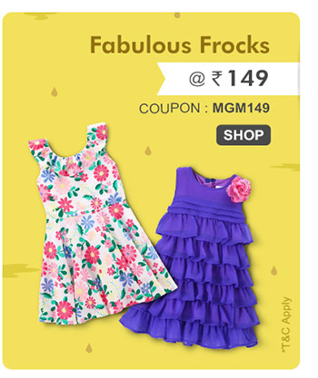 Fabulous Frocks @ Rs. 149*