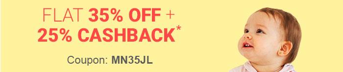 Flat 35% OFF   25% Cashback*