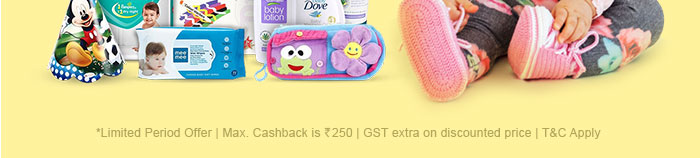 Max. Cashback is Rs. 250 | GST extra on discounted price | T&C Apply