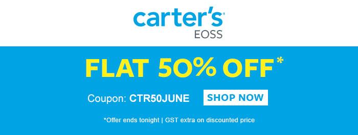 Carter's EOSS - Flat 50% OFF*