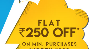 Flat Rs. 250 OFF*on minimum purchases worth Rs. 999