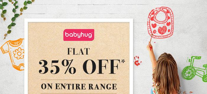 Flat 35% OFF* on Entire Babyhug Range  |  Coupon- BHG35JULY