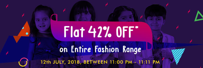 Flat 42% OFF* on Entire Fashion Range | COUPON: FASH42JUL