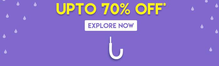 Upto 70% OFF* | Explore Now