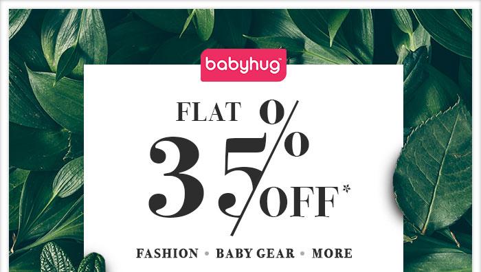 Flat 35% OFF* on Entire Babyhug Range | Coupon- JULY35BHG