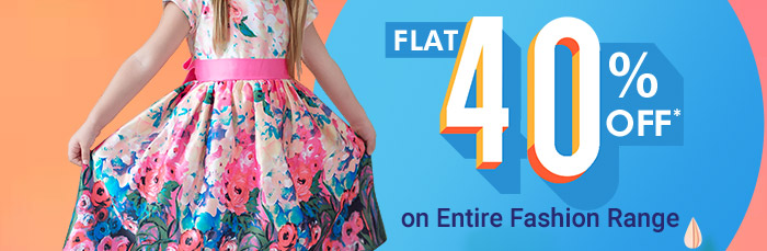 Flat 40% OFF* on Entire Fashion Range