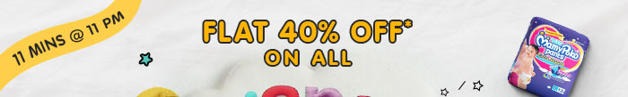 Flat 40% OFF* on All Diapers | Coupon : JULY40DIAP